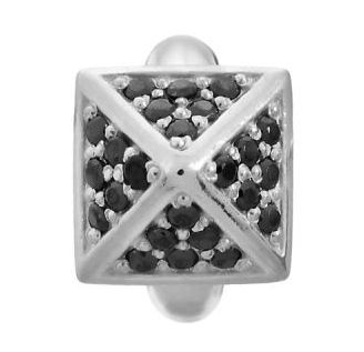 Endless J-Lo Collection Black Shiny High Rise Silver Charm