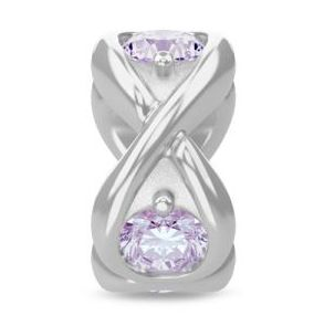 Endless Lavender Infinity Ocean Silver Charm