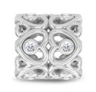 Endless Flower of Hearts Silver Charm