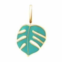 Oak Mini Monsoon Green Pendant Charm in Yellow Gold