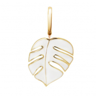 Oak Mini Monsoon White Pendant Charm in Yellow Gold