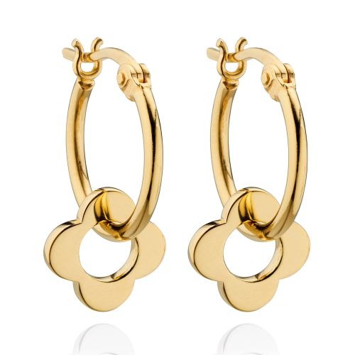 Gold Flora Earrings by Orla Kiely