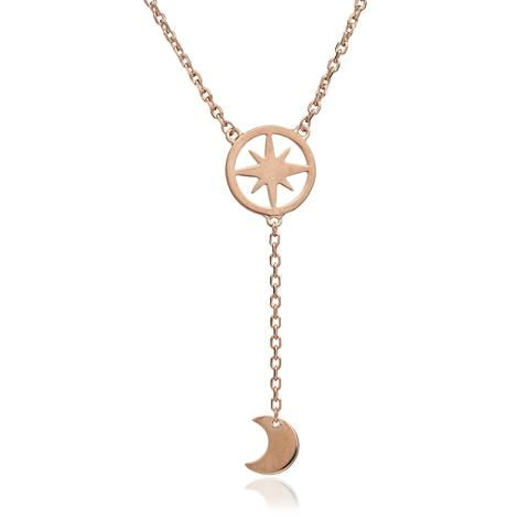 Celestial Moon and Star Dangle Pendant