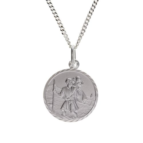18mm St. Christopher Pendant and Chain