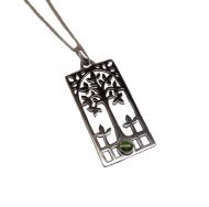 Annabel Humber Tree/Peridot Silver Pendant