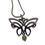 Annabel Humber Silver Peridot Butterfly Pendant