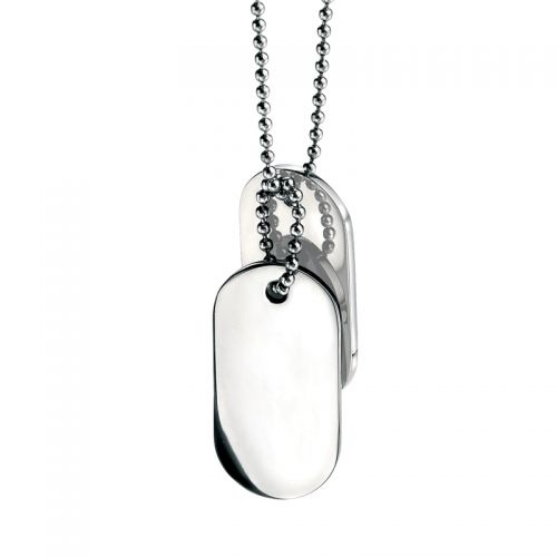 Fred Bennett Oval Dog-Tags Pendant