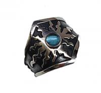 Annabel Humber Blue Topaz Sun Ring - size M