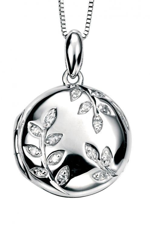 White Gold Diamond Locket Amulet Fine Jewellery