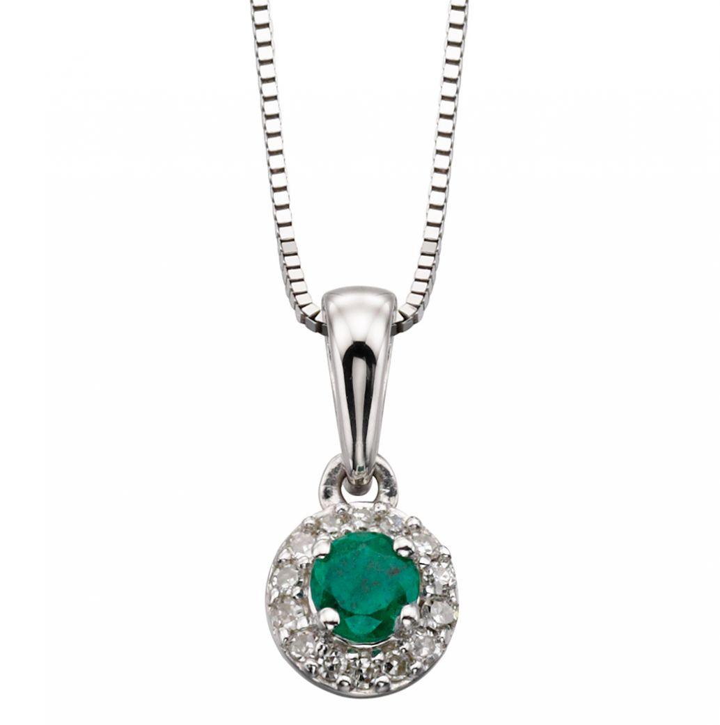 emerald and pendant white gold pendant amulet